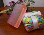 Pink Swirl Vanilla Gylcerin Soap - 4 oz