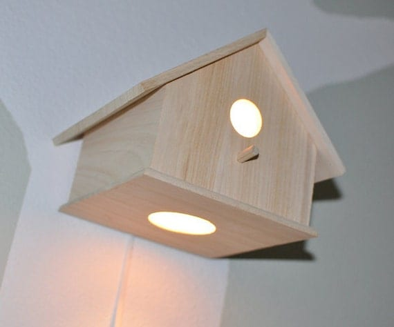 SALE Chase Birdhouse Nursery Wall Lamp Modern by moderntreetopbaby