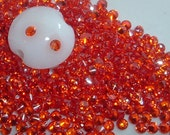 2mm PADPARADSCHAH CZs - pkg of 20 Perfect for Lampwork Beads, Polymer Clay or PMC