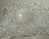 2mm WHITE (clear) CZs - pkg of 20 Perfect for Lampwork Beads, Polymer Clay or PMC