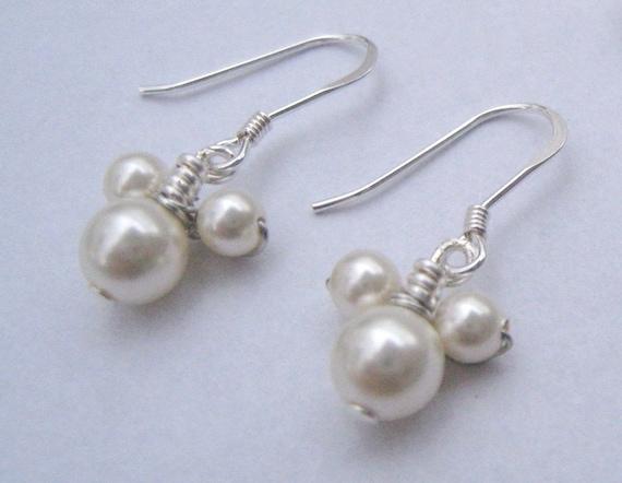 DISNEY - Mickey Mouse Themed Swarovski Pearl Beaded Earrings
