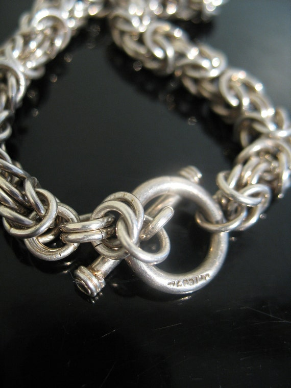 Vintage Sterling Silver solid CHAIN LINK