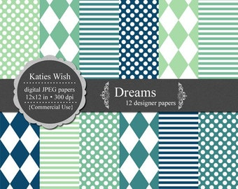 Dreams Digital Scrapbooking Kit Comercial Use Instant Download jpg files for invites, scrapbooking, web design