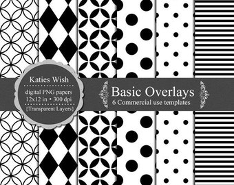 Basic Overlays Digital Commercial Use Templates Instant Download