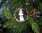 Custom Order for Mechele (rodefeld1) - Lego Star Wars Storm Trooper and Young Anikin Minifigure Christmas Ornaments