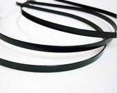 Black Plated Metal Headbands - Lot of 15 - thin 5mm wide