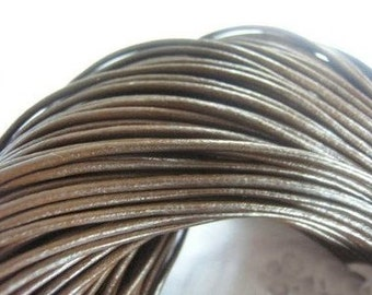 SALE 40pcs 18 inch 2.0mm brown genuine leather necklace cord with 2 inch extension chain