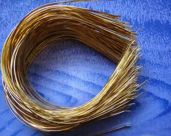 Gold Plated Metal Headbands - Lot of 50 - thin 3mm(1/8 inch) wide