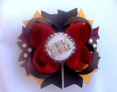 Thanksgiving fall bottlecap hair bow boutique gobble gobble