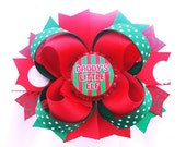 Christmas Daddys girl bottle cap Hair bow