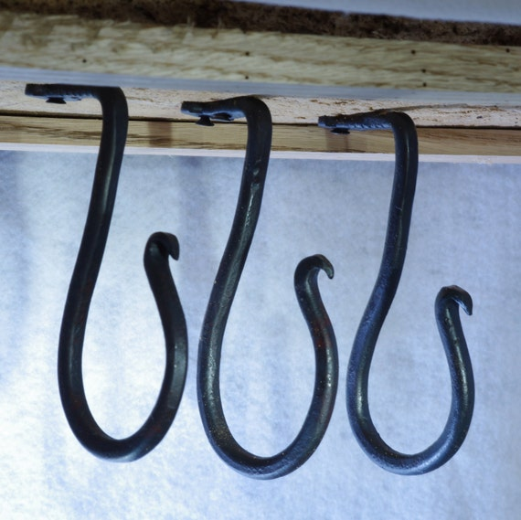 Large Hand Forged Under Cabinet Hook Ceiling Hook By Hotworks