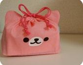 graduation day gift, Perfect pink eco friendly bag, bento bag, small bag, lunch bag, bento