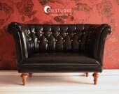 SD Classic Sofa Shiny Black