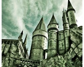 Photography Home Wall Art Castle Harry Potter Hogwarts Graphic Square Colour - Hogwarts Castle