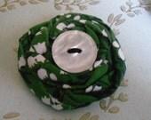 Twisted Fabric Flower Brooch.