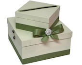 Wedding Gift Card Box with Crystal Brooch, centerpiece, wishing well