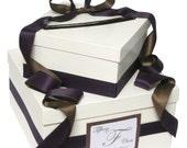 Custom Wedding Gift Card Box with Monogram