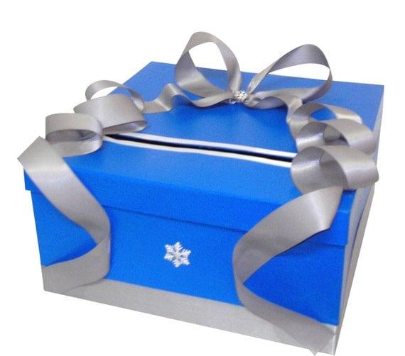 Winter Simplicity Wedding Card Box money holder, wishing well, centerpiece