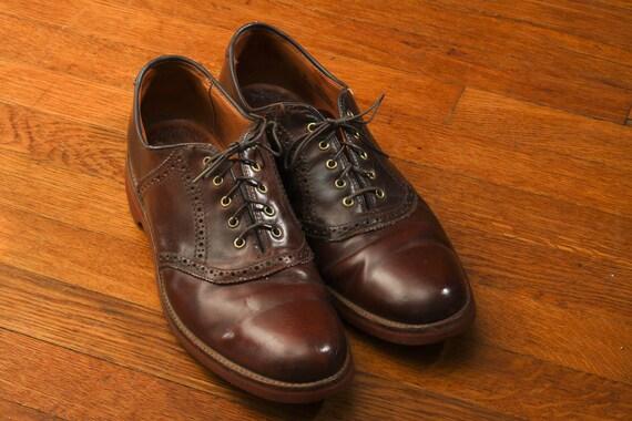 Vintage Lands-End Leather Oxfords
