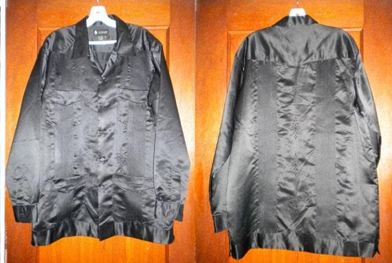 Mens Long Sleeve Guayabera Shirt Mexican Wedding Shirt Unique XL