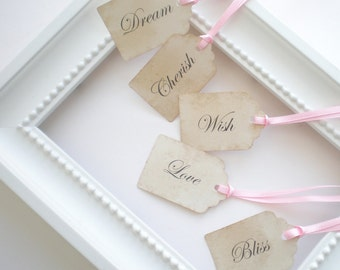 Wedding Favors,Party Favours,Bridal Shower, Tea Party Tags Set Of 10 Ribbon Choice