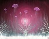 Drifting Dreams - 16 x 20, acrylic on canvas, ready to hang, ORIGINAL by Michael H. Prosper