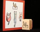 flying letter rubber stamp