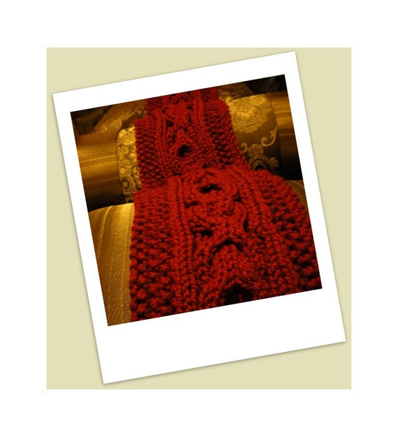 Original Design - Made to Order Unisex XOXO scarf - Hand Knit