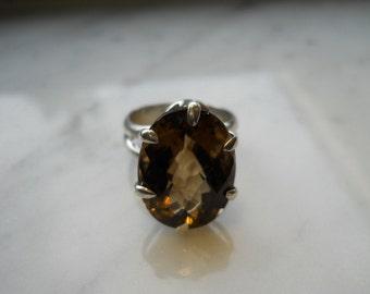 Smokey Topaz Ring