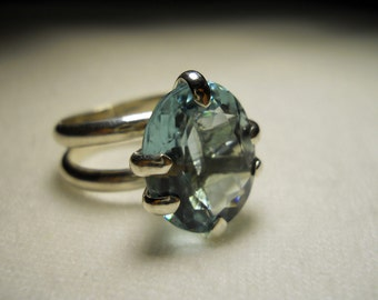 Aqua Marine Gemstone Ring