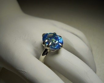 Blue tropic mystic Topaz gemstone Ring