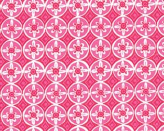END of BOLT - 20 inches - Dena Designs - Tea Garden - Oolong in Fuchsia Cotton Quilting Fabric
