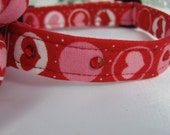 SALE - Valentine's Day Package- Collar Red Hearts with Swarovski Crystals and Crystal Flower - Item 1314