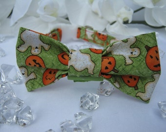 Halloween Dog Bow-Tie - Ghosts and Pumpkins - Item 3001