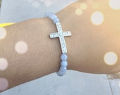 Grey Bracelet w/ Cross