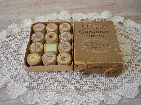 Little Box of Wooden Thread Spools
