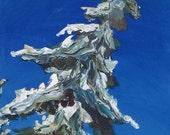Snowy Tree Magnet - Around the Bend - 8.5 x 5 cm
