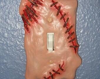 Sculpted Switchplate Fresh Flesh Horror Halloween Zombie Gore Art Home Décor