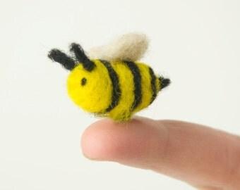 Miniature Needle Felted Pocket Bee
