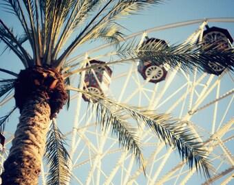 Ferris Wheel - 8x12 Fine Art Photograph, Southern California, Summer, Carnival, Wall Art