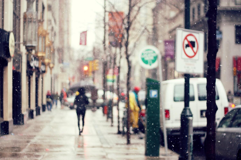 winter city lane with - photo #31
