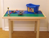 "Large Lego Table (6 plate) Solid Wood 22"" tall"