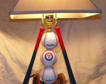 Ultimate Rangers Baseball Table Lamp