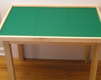 Lego Table (6 plate) with tall 29 inch legs Solid Wood
