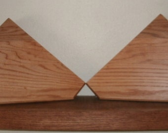 Corner Shelf, geometric design, pair.