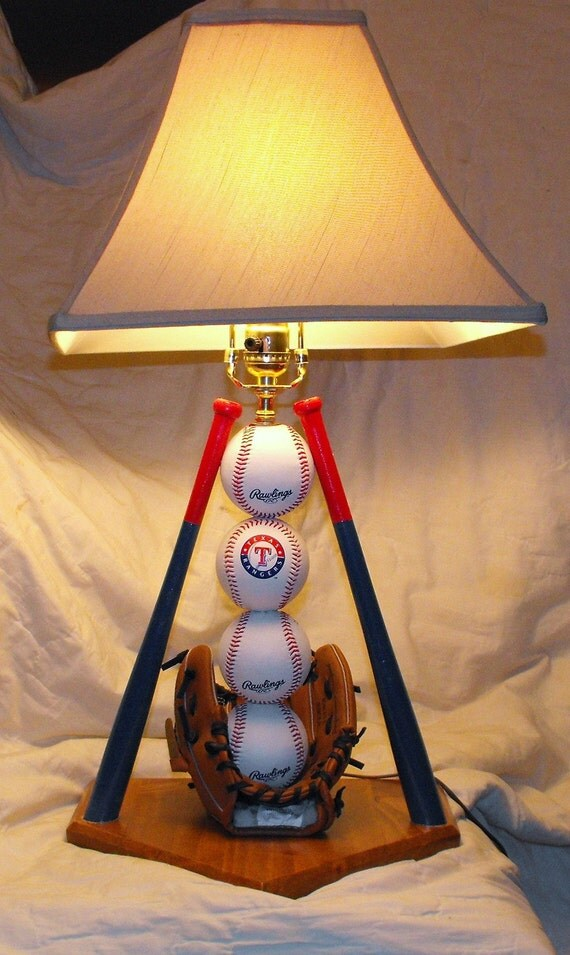 Ultimate Rangers Baseball Table Lamp