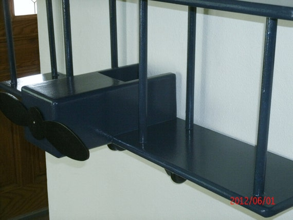 Bi-Plane Wall Shelf Navy Blue