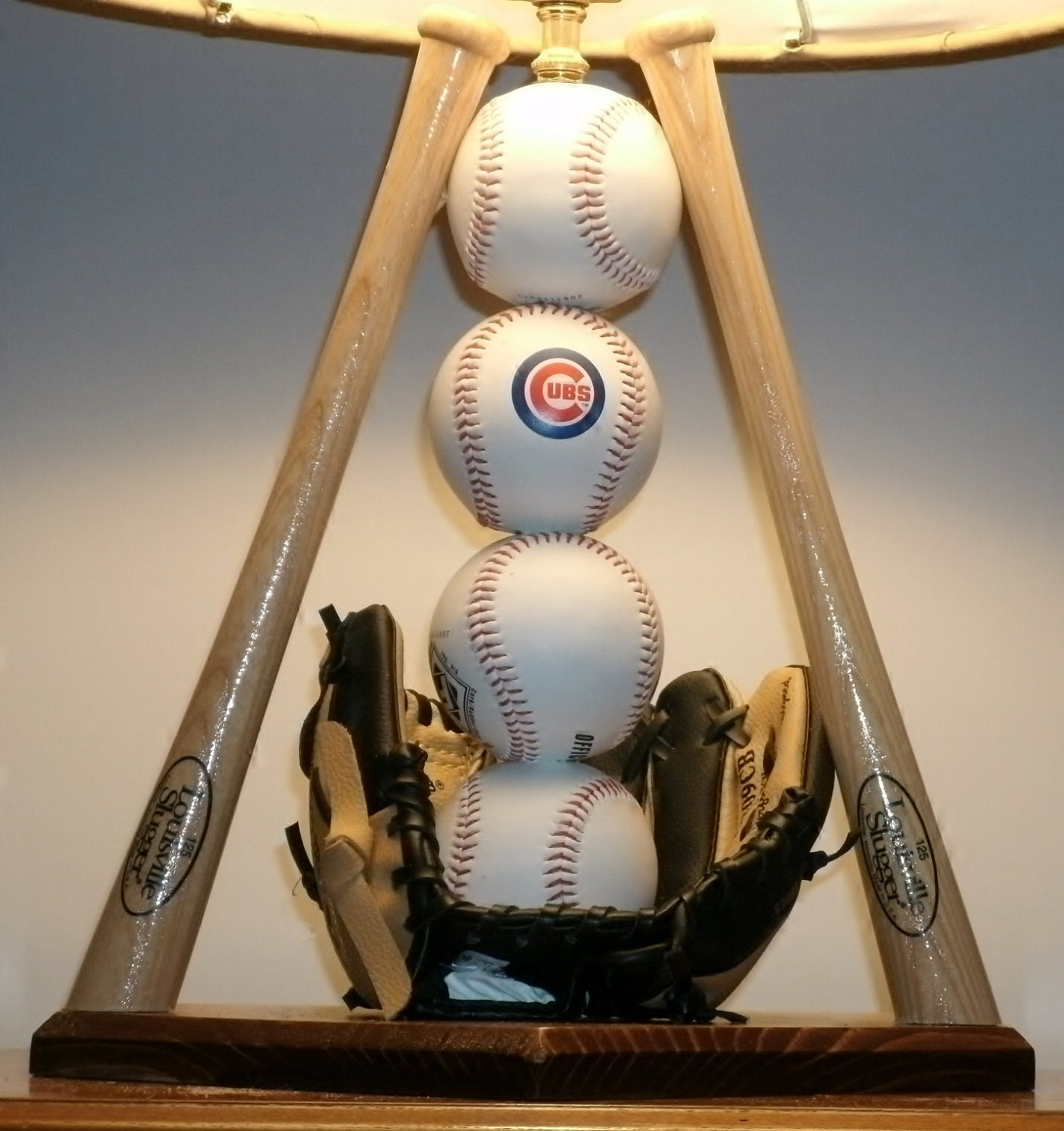 Baseball Table Lamp Show Off Your Favorite Team With This