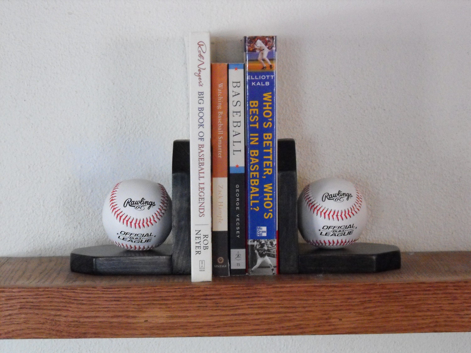 Bookends With A Baseball Or Hockey Theme Multiple Colors Are