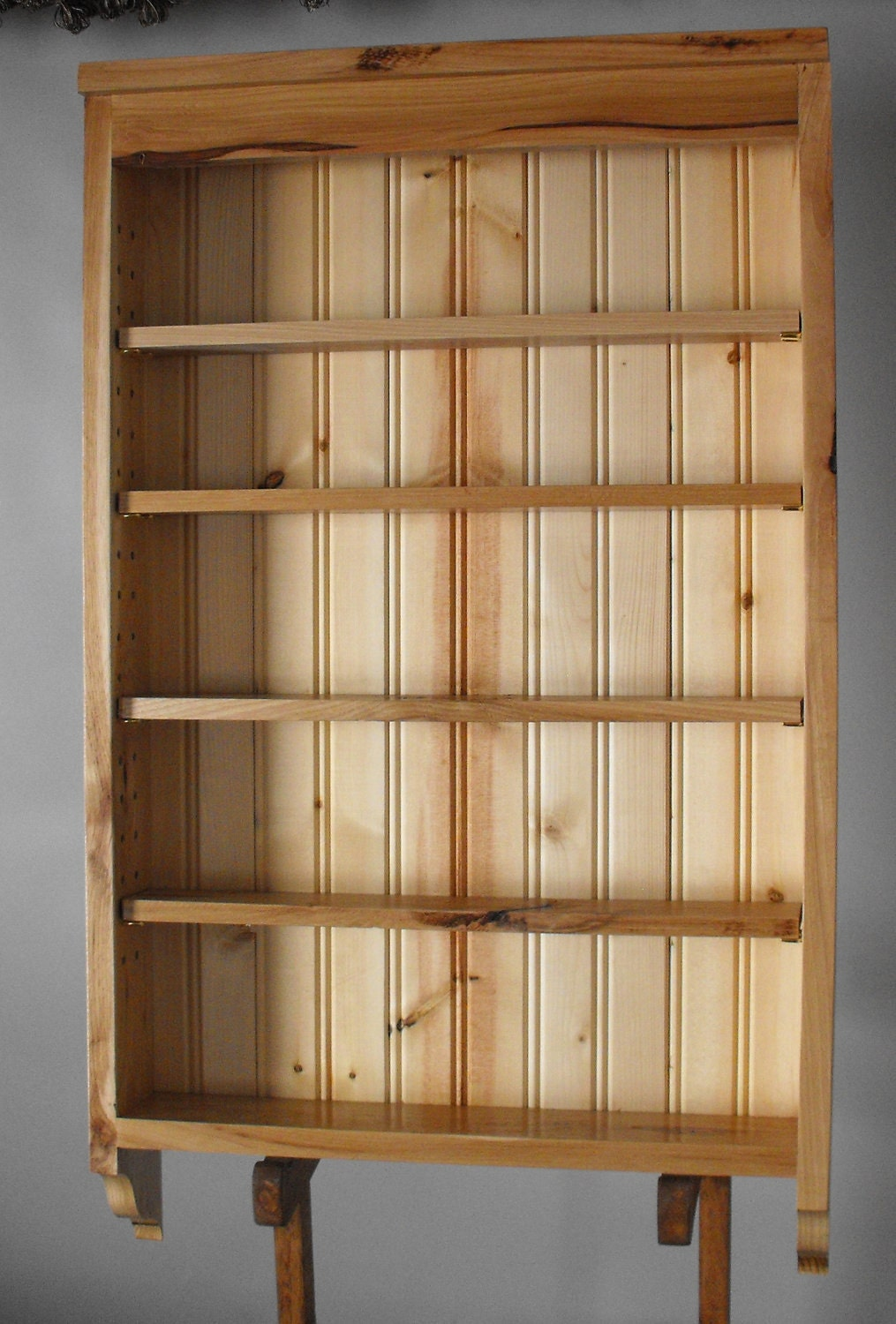 Display Cabinet Rustic Hickory with Adjustable shelves